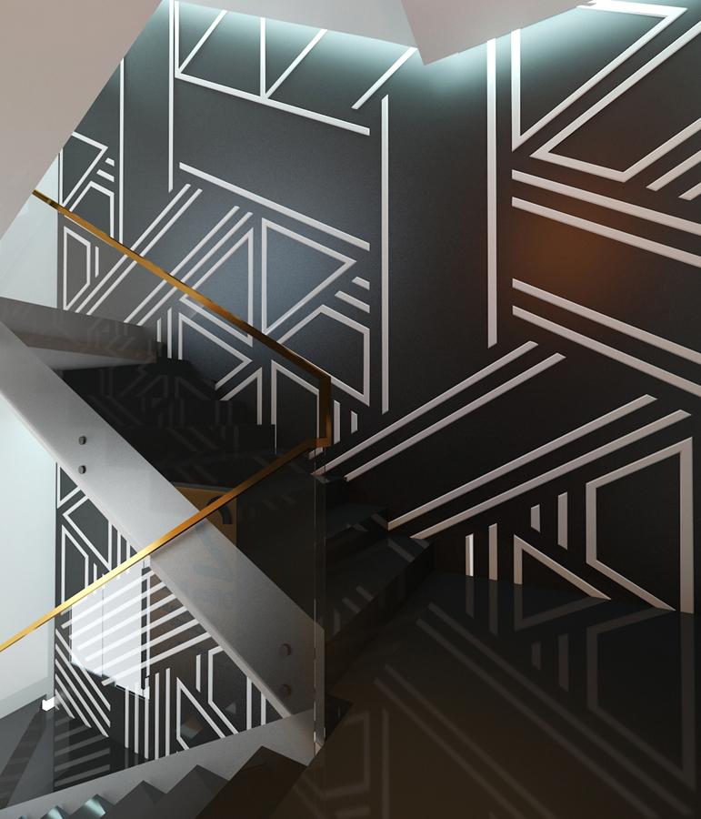 Мотив стълбище GOLD LINE