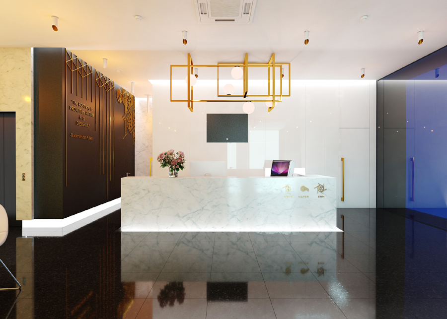 Рецепция бизнес сграда GOLD LINE